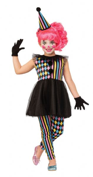 Girls Clown Girl (Quarter Sawn) Fancy Dress Costume
